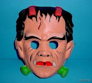 Lot of 8 Vintage Halloween Mask Frankenstein Bride of Frankenstein
