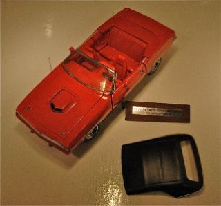 Franklin Mint 1970 Plymouth Hemi Cuda Convertible   Ralley Red