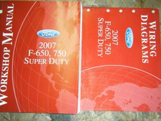 2007 FORD F 650 F 750 SUPER DUTY TRUCK FACTORY SERVICE MANUALS SHOP