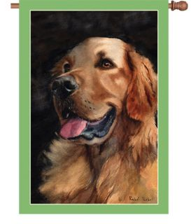 Golden Friend Retriever Dog Puppy House Flag Yard Garden 28 x40