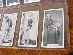 VinTagE 1930s CIGARETTE TOBACCO CARDS / MOVIE STARS PIN UPS COMPLETE