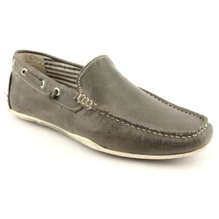 GBX 09117 Mens Size 8 Gray Leather Loafers Shoes