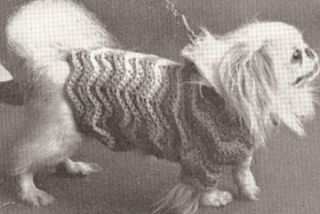 Vintage Dog Sweater Coat Hat Puppy Crochet Pattern