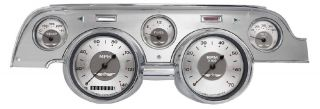 67 68 Ford Mustang Gauges Cluster w/ Brushed Aluminum Bezel