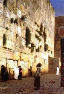 Jean Leon Gerome Oil Painting repro Solomons Wall, Jerusalem ,The