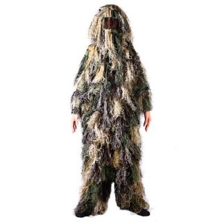Adults Ghillie Suit Woodland Camo Sniper Suit Size M L Factory Direct