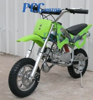 50cc 2 Stroke Gas Motor Mini Bike Dirt Pit Bike Green H DB49A