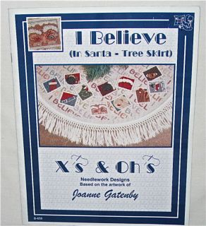 Believe in Santa Tree Skirt Leaflet Joanne Gatenby
