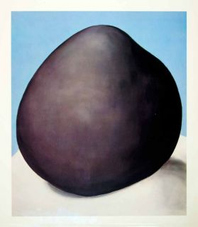 Black Rock Boulder Blue Sky Still Life Georgia OKeeffe Art