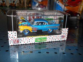 M2 Machines 57 Chevy 1 5 Ralphs Customs Blue Tires Super Strike Chase