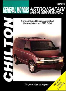 Chevy Astro GMC Safari Mini Van Repair Shop Service Manual 1985 2005