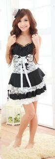 Cute Girl Condole Belt Princess Dress Lace Cake Babydoll Lingerie One