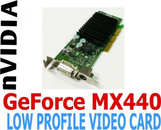 Dell NVIDIA GeForce MX440 64MB DVI AGP Low Profile Video Graphics Card