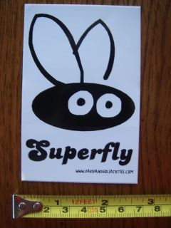 Superfly Sticker Decal David Goliath Tees Skate