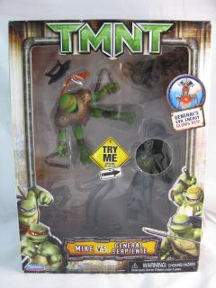 TMNT Mike vs General Serpiente Ninja Turtles Playmates