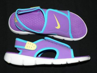 Nike Sunray Adjust 4 Youth GS Girls Water Sandals Shoes New Purple