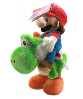 Authentic Brand New Global Holdings Super Mario Plush 8 Mario Riding