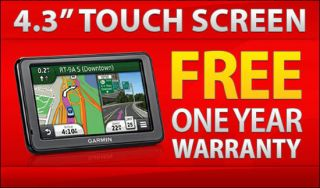 2495LMT GPS Vehicle Navigation System Free Lifetime Traffic Map
