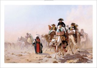 Jean Leon Gerome Napoleon in Egypt Portrait on Canvas