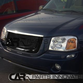 2002 2007 GMC Envoy Mesh Black ABS Front Hood Bumper Grill Grille