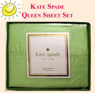 Fresh Green Kate Spade New York Designer Queen Sheet Set New in