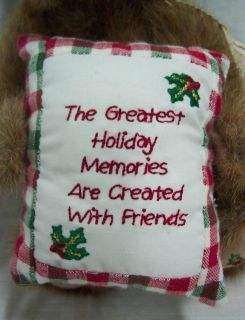 Boyds Beary Goodfriend Holiday Christmas Teddy Bear Plush Stuffed