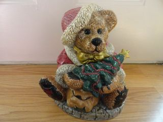 Boyds Bear Collection Grenville The Santa Bear Cookie Jar