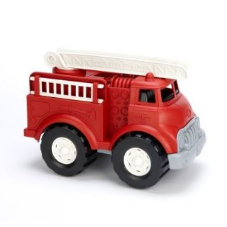 Green Toys Fire Truck w Two Removable Side Ladders New