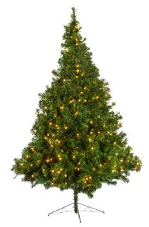 ft Valley King Green Prelit Artificial Christmas Tree