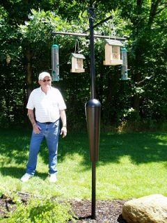 Squirrel Stopper Deluxe Bird Feeder Pole and Baffle Squirrel Proof