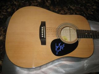 Gordon Lightfoot Signed Acoustic Guitar Proof