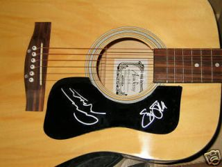 Stephen Stills Graham Nash Signed Acoustic Guitar