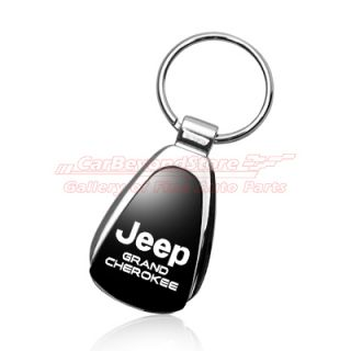 Jeep Grand Cherokee Black Tear Drop Key Chain Keychain Key Ring Free