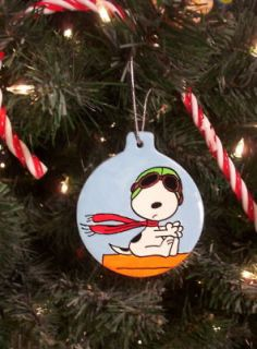SNOOPY Flying ACE THE PILOT and Red Baron Christmas Ornament Tree 2013