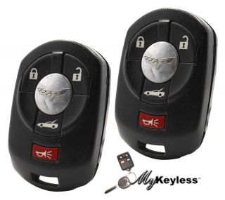 OEM GM CHEVY REPLACEMENT KEYLESS ENTRY CAR REMOTE KEY FOB PAIR