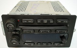 GMC Envoy 05 06 Model Factory Car Stereo Bose Premium 6CD Disc Changer
