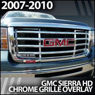 2007 2010 GMC Sierra HD Grille 2500 3500 Chrome Grille