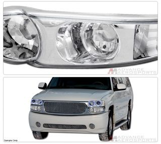 2000 2006 GMC Yukon Denali SUV Chrome Parking Turn Signal Bumper