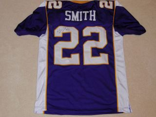 HARRISON SMITH SIGNED MINNESOTA VIKINGS THROWBACK JERSEY JSA