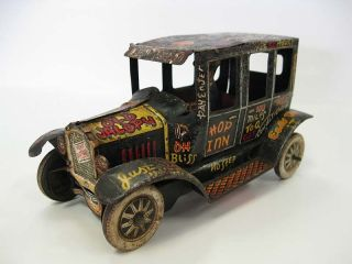 1930s Marx Old Jalopy Tin Wind Up Toy Car