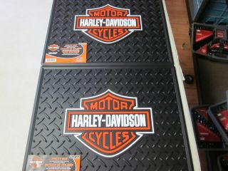 Lot of 2 Harley Davidson Utility Car Truck Floor Mats 1002RO1