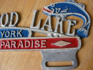 Greenwood Lake New York Aluminum License Plate Topper