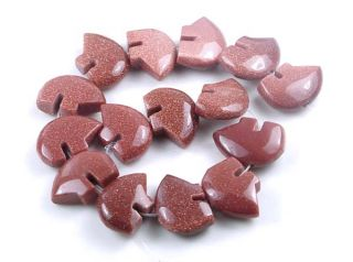Sparkling Goldstone Gold Sand Stone Bear Beads 15
