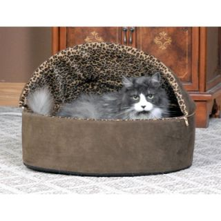 Manufacturing Leopard Deluxe Heated Hooded Cat Bed