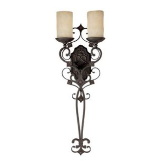 Capital Lighting River Crest 33 Two Light Wall Sconce in Rustic Iron