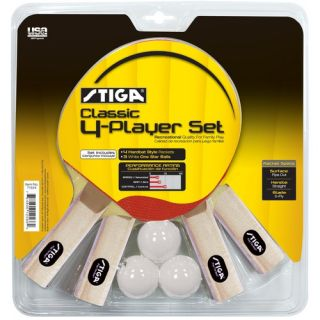 Classic 4 Player Table Tennis Racket Set
