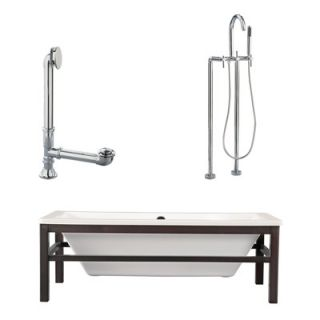 Giagni Tella 67 Tub with Floor Mount Faucet and Lever Handles in