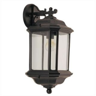Sea Gull Lighting Kent Outdoor Wall Lantern in Black   84030 12
