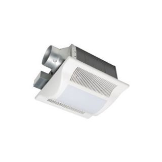 Fans Whisper Fit Lit 2 Light 80 CFM Bathroom Ventilation Fan Light