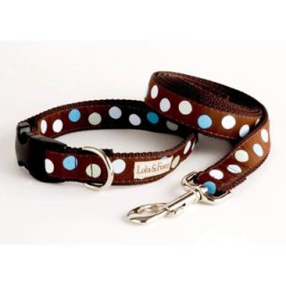 Lola and Foxy Blueberry Truffle Blue/Brown Dog Collar